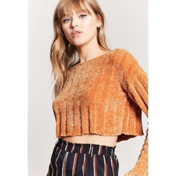 91a97388d54b0 Forever 21 Sweaters - Cropped Chenille Ribbed Sweater